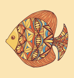 ornated fish vector image