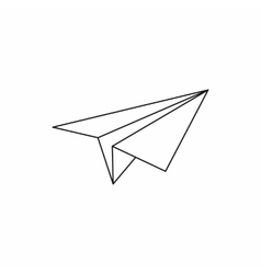 Paper plane icon outline style vector image