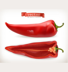 Pepper vegetable 3d icon vector