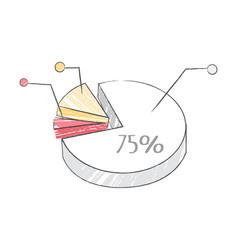 pie chart representing data vector image vector image