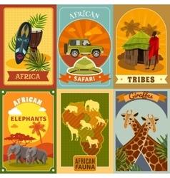 Safari Posters Set vector image