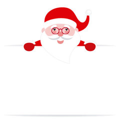 Santa Claus with a poster vector image