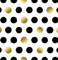 Seamless pattern with hand drawn gold circles vector image