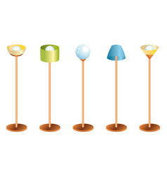 set lamps vector image