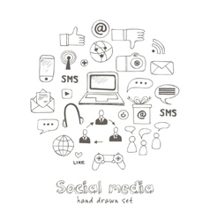 set of social media sign and symbol vector image