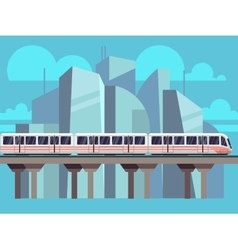Sky Train Subway Concept vector