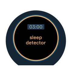sleep detector vector image