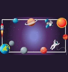 Solar system border scene vector