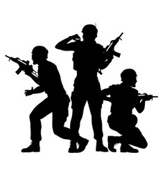 soldiers fighting together vector image