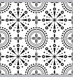 Spanish or portuguese tiles pattern azulejo vector