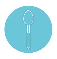 Spoon cutlery isolated icon vector