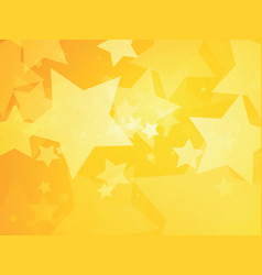 stars yellow background vector image