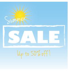 Summer sale ad vector