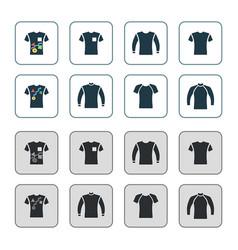 Sweater sweatshirt t-shirt icon set vector