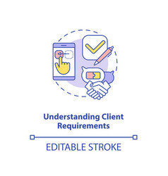 understanding client requirements concept icon vector image