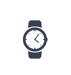 Watch icon on white vector