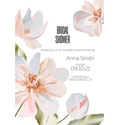 wedding 3d ornament concept floral peony poster vector image