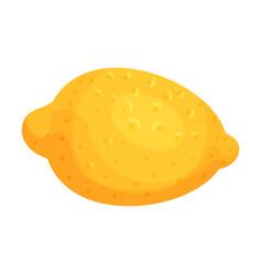 Whole yellow lemon fruit with acid taste vector