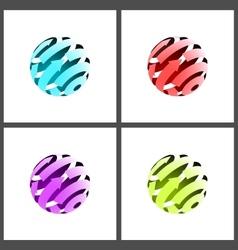 Abstract Globe vector image vector image