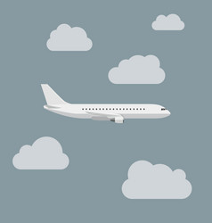 airplane with clouds vector image