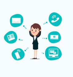 businesswoman stress pressure business mental vector image