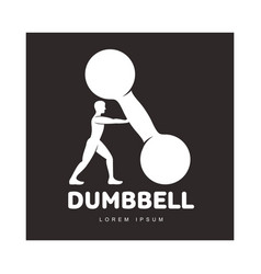 graphic logo template with bodybuilder man vector image vector image