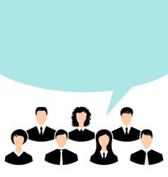 unity of business people team with speech bubble - vector image vector image