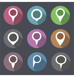 Flat Map Markers vector image vector image