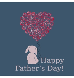 Happy fathers day template vector image vector image