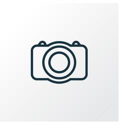 Photo camera outline symbol premium quality vector