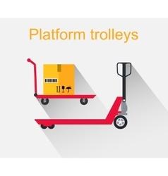 Platform Trolleys Icon Design Style vector image