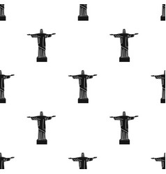 christ the redeemer icon in black style isolated vector image