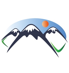Mountain logo 2 vector image vector image
