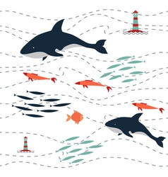 pattern killer sea vector image vector image