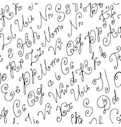 Seamless Hand Drawn Background vector image vector image