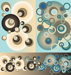 Sett of patterns of circles vector image vector image
