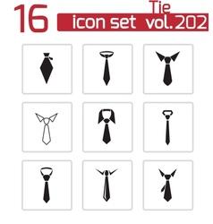 black tie icons set vector image vector image
