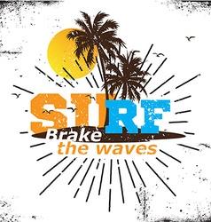 California surf logo vector image vector image