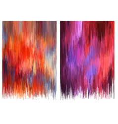 glitch backgrounds set vector image vector image