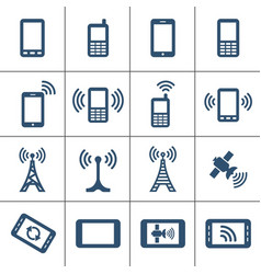 mobile devices and wireless vector image vector image