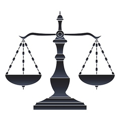 Scales of justice vector image vector image
