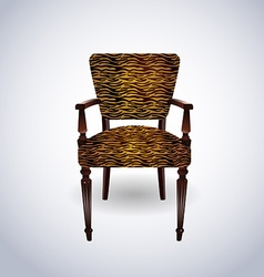 Tiger skin Chair vector image vector image