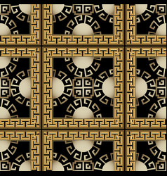 3d checkered vintage greek seamless pattern vector
