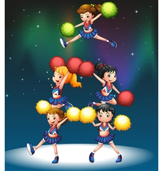 A cheering squad vector
