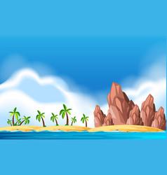 A deserted island landscape vector