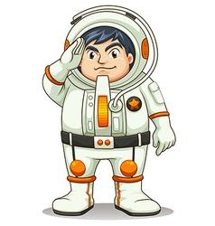 A fat astronaut vector