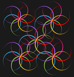abstract spiral flower vector image