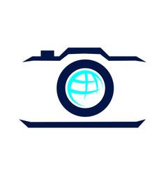 Aero photography logo design template vector