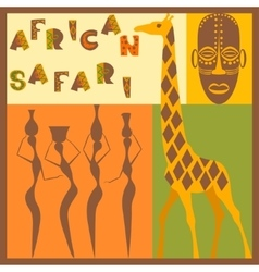Afrocan ethnic vector