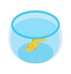 Aquarium with goldfish isometric 3d icon vector image